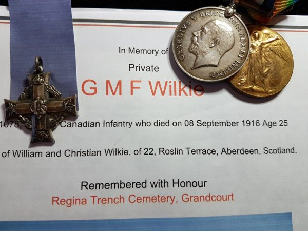 101078 PTE. G. M. F. WILKIE. 8 – CAN. INF