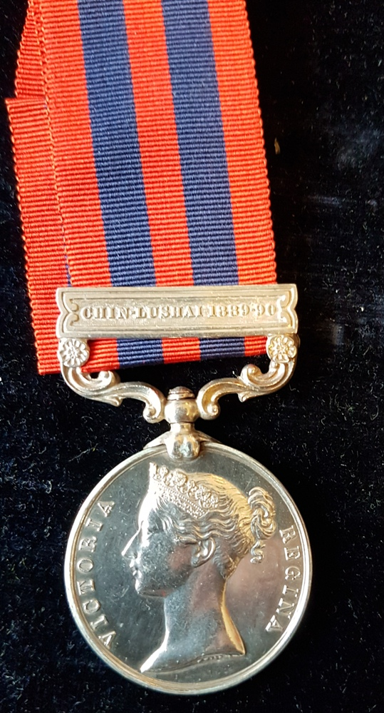 India General Service Medal 1854 CHIN LUSHAI 1889-90 Clasp