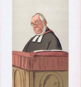 Reverend James Hessey Vanity Fair Print