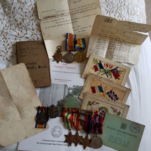 Great War Casualty, Family Group of Medals,