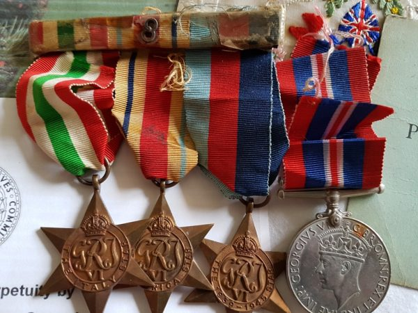 Son Albert's 8th Army WW2 Medals