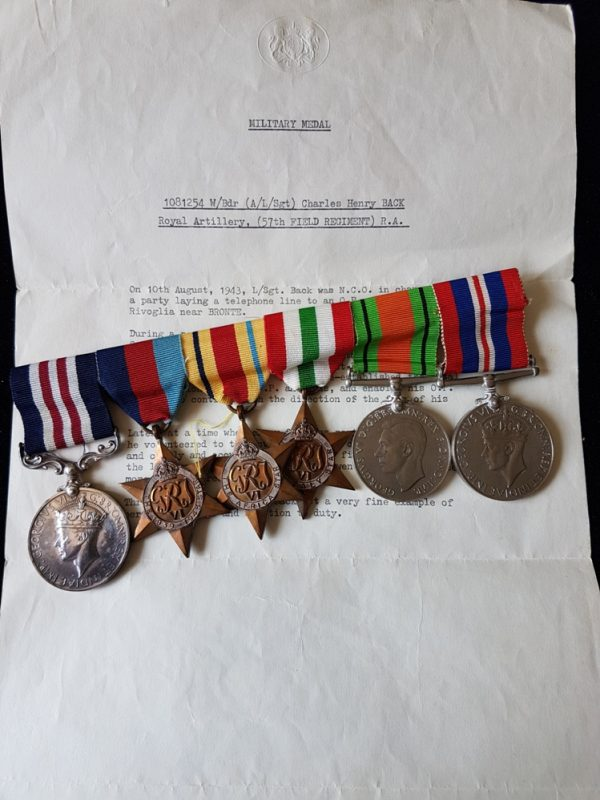 Sicily 1943 Battle of Mount Rivoglia Medal Group
