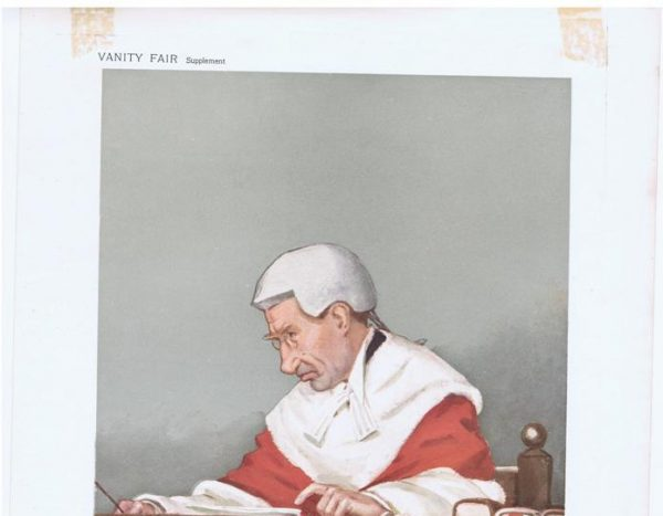 Red Robed Judge Justice A T Lawrence