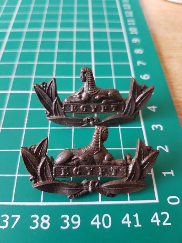 Gloucestershire Regiment Collar Badge Pair