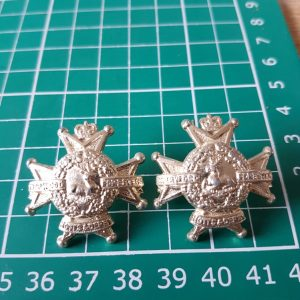 Sherwood Foresters Regiment Collar Badge Pair