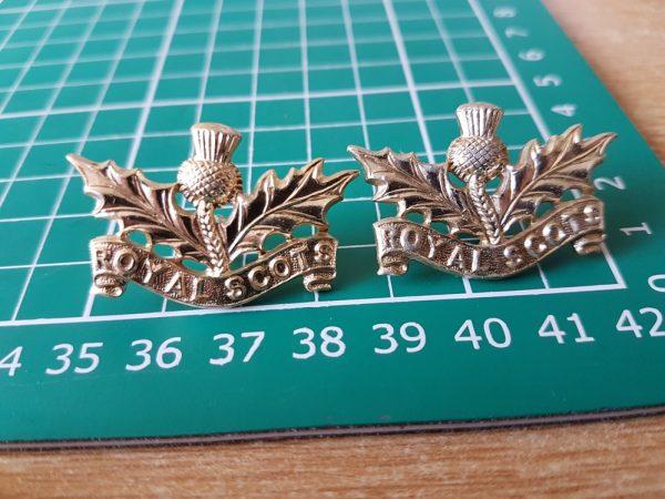 Royal Scots Collar Badges