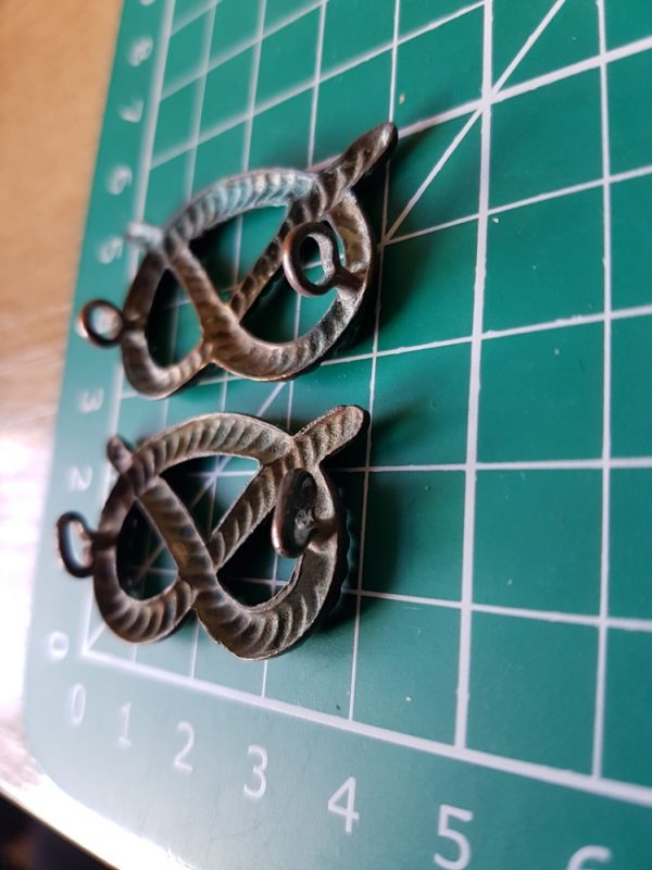 South Staffordshire Regiment Collar Badge Pair
