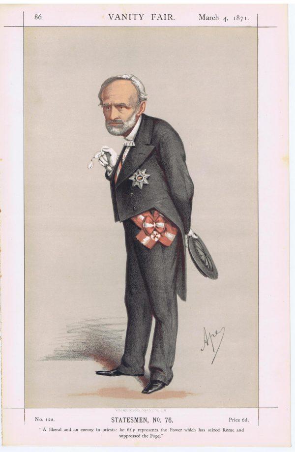 Chevalier Charles Cadorna Vanity Fair Print 1871