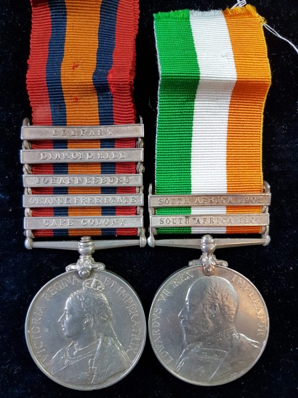 Royal Scots Greys Anglo Boer Medal Pair