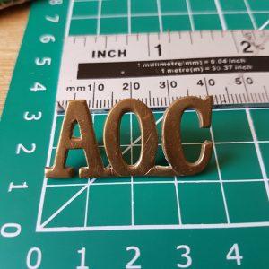 AOC Army Ordnance Corps Shoulder Title