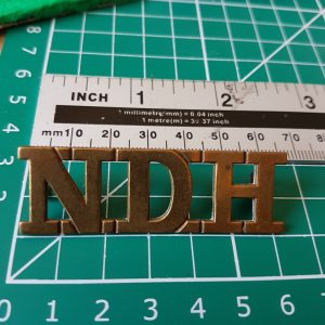North Devon Hussars Shoulder Title