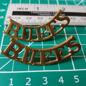 BUFFS Royal East Kent Regiment Shoulder Title