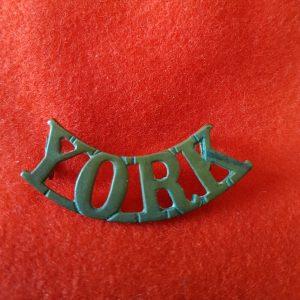 Yorkshire Regiment Shoulder Title YORK