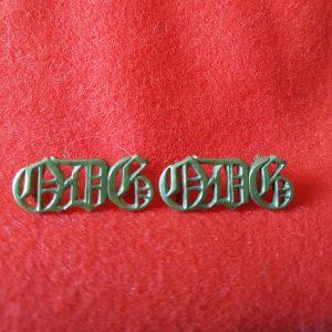 QDG Queens Dragoon Guards Shoulder Title Pair