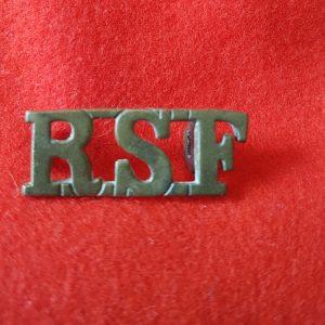 RSF Royal Scots Fusiliers Shoulder Title