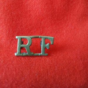 RF Royal Fusiliers Shoulder Title