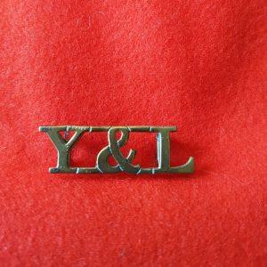 Y&L York & Lancaster Regiment Shoulder Title