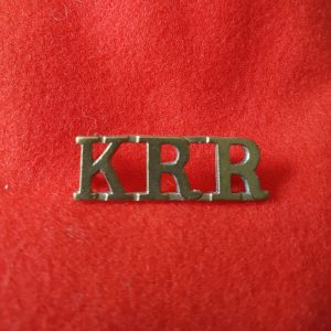 Kings Royal Rifle Corps Shoulder Title