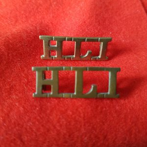 Highland Light Infantry Regiment Shoulder Title Pair