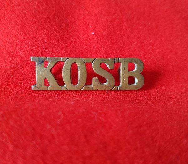 Kings Own Scottish Borderers Regiment Shoulder Title