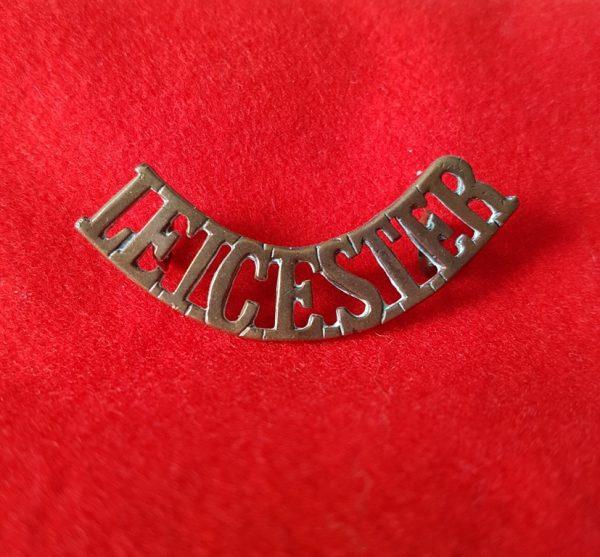 Leicester Leicestershire Regiment Shoulder Title