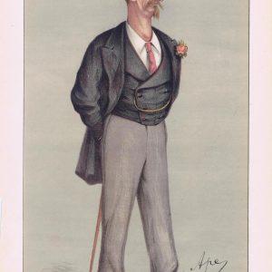 Captain Eyre Shaw Vanity Fair Print 1871