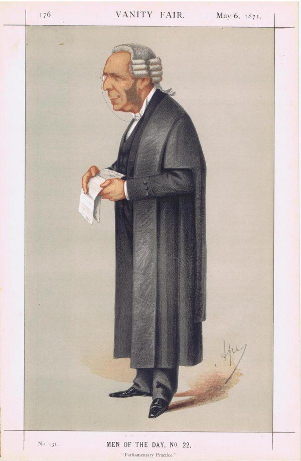 Thomas Erskine May Vanity Fair Print 1871
