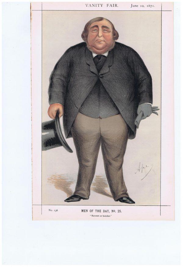 Roger Doughty Tichborne Vanity Fair Print 1871
