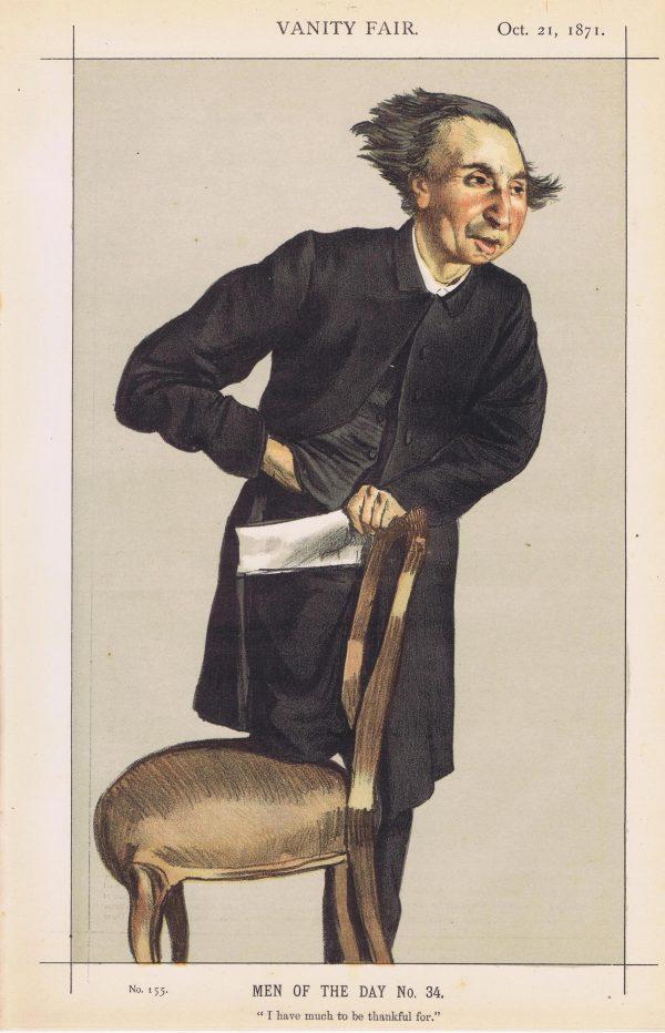 Reverend Charles Voysey Vanity Fair Print 1871