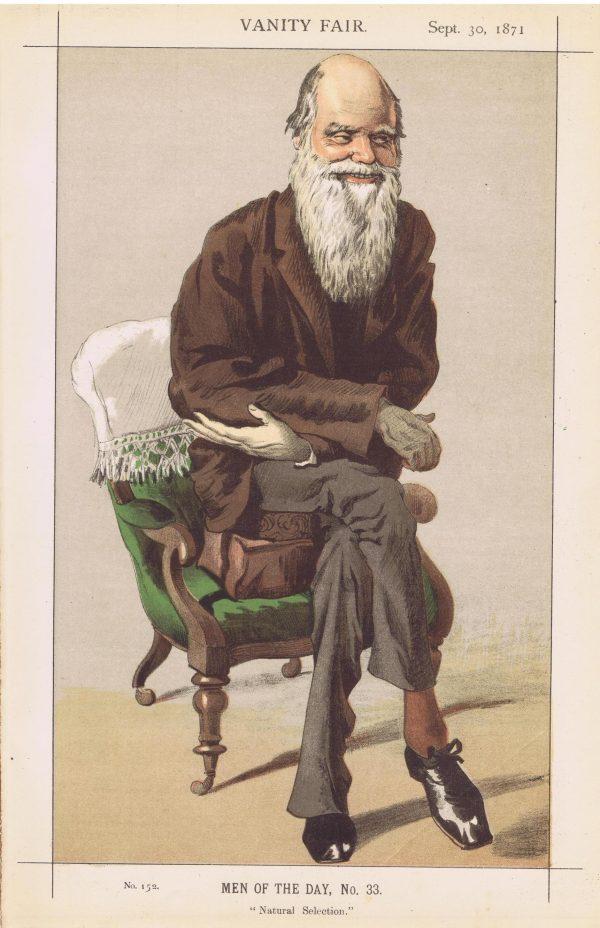 Charles Darwin Vanity Fair Print 1871