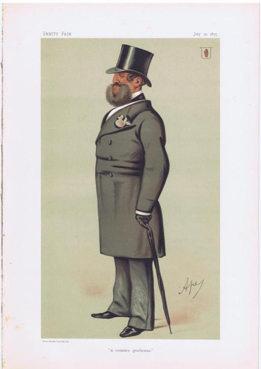 Henry Josias Stracey Vanity Fair Print 1875