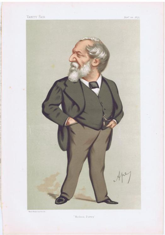 Robert Browning Vanity Fair Print 1875