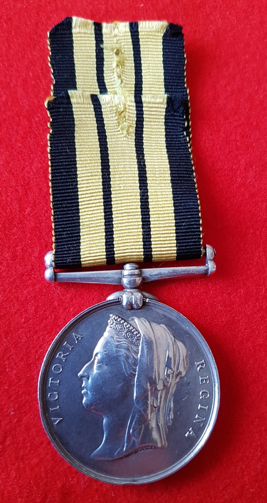ASHANTEE MEDAL ROYAL NAVY HMS ACTIVE