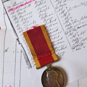 China War Medal 1842 HMS MELVILLE