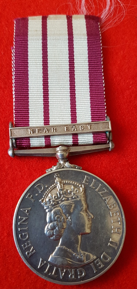 Naval General Service Medal (EIIR) Near East Clasp