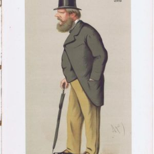 Prince Edward Of Saxe-Weimar Vanity Fair Print 1875