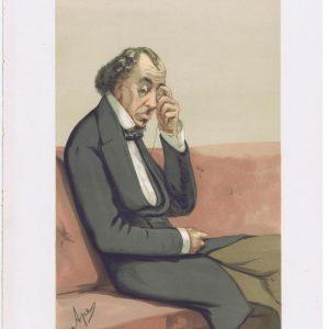 Benjamin Disraeli Original Vanity Fair Print