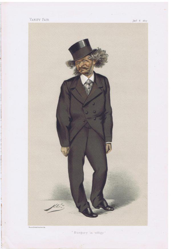 Count Gyula Andrassy Original Vanity Fair Print