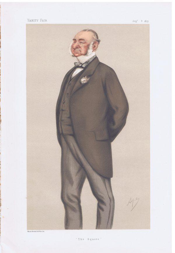Henry Villebois Original Vanity Fair Print