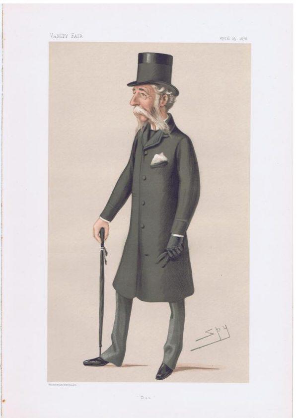 Major-General Sir Daniel Lysons Vanity Fair Print
