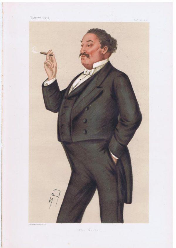 Edmund Hodgson Yates Original Vanity Fair Print