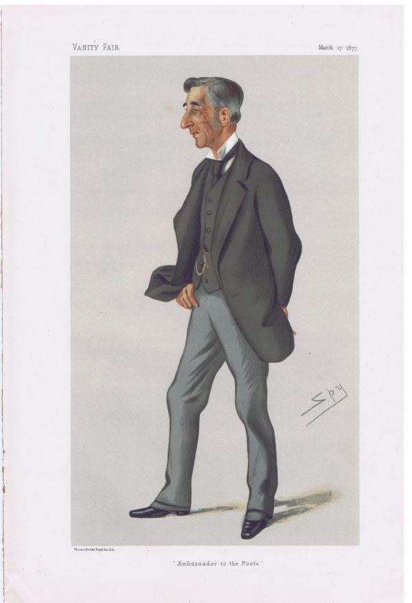 Sir Henry George Elliot Original Vanity Fair Print