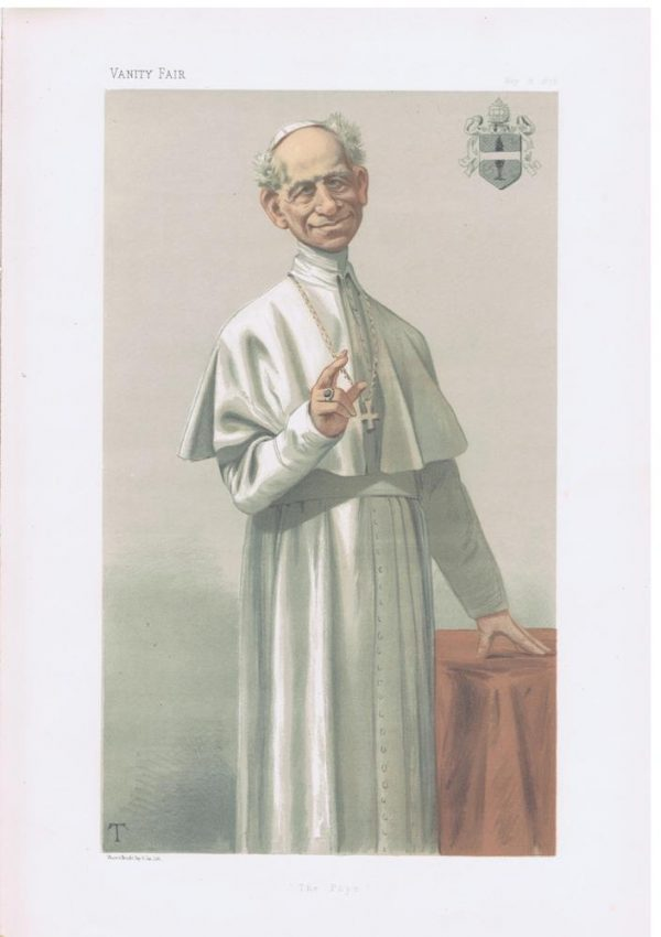 His Holiness Pope Leo XIII Pope Vanity Fair Print