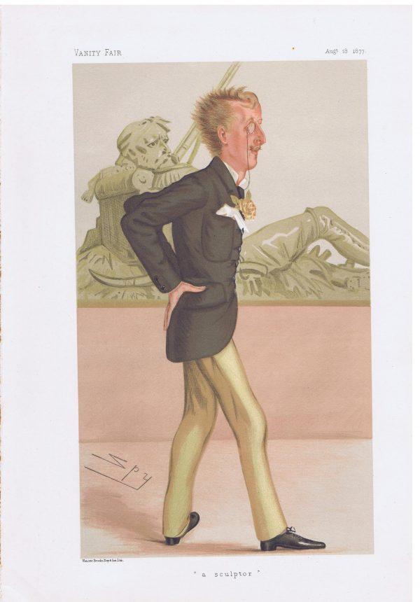 Ronald Leveson-Gower Original Vanity Fair Print