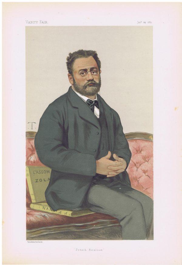 Emile Zola Vanity Fair Print