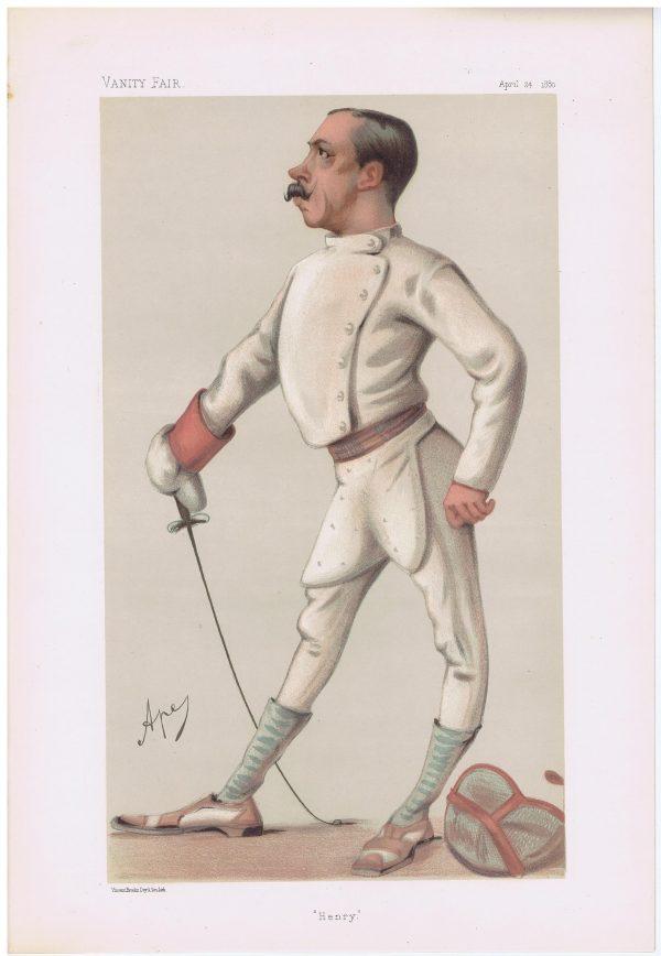 Henry Stracey Vanity Fair Fencing Print