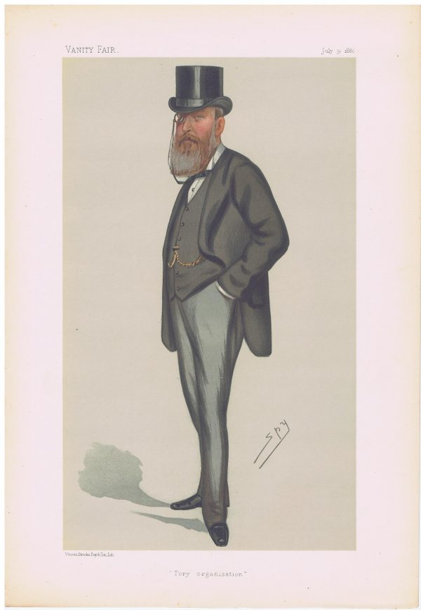 John Eldon Gorst Original Vanity Fair Print