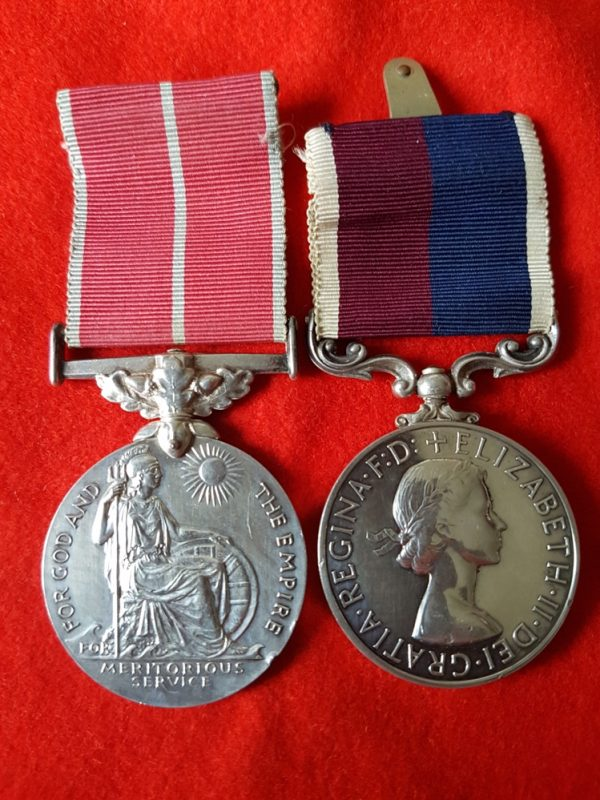 British Empire Medal and GVR Long Service Medal Pair RAF