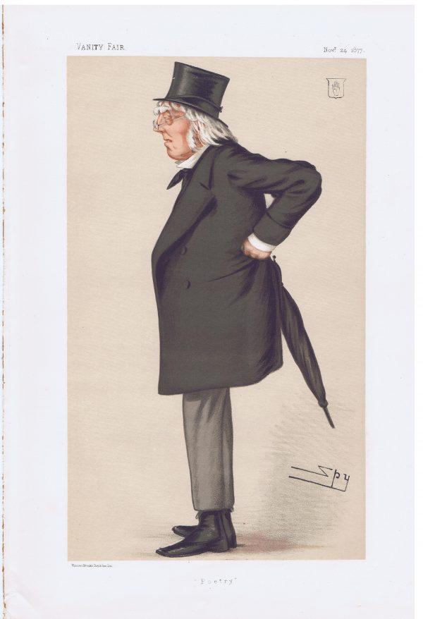Poet Francis Hastings Doyle Original Vanity Fair Print