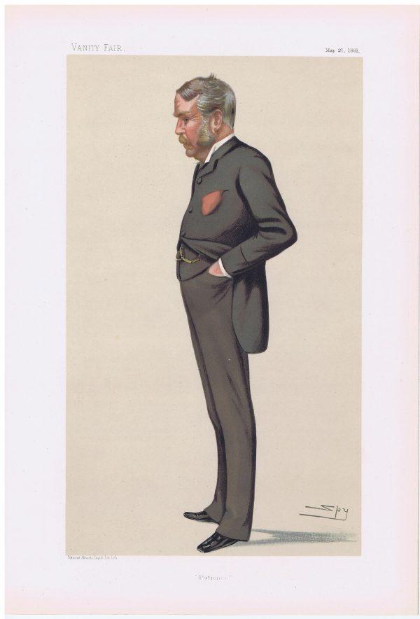 William Schwenck Gilbert Original Vanity Fair Print